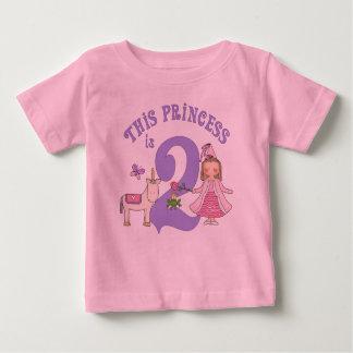 ユニコーンのプリンセスの第2誕生日 ベビーTシャツ