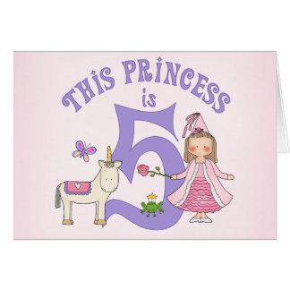 ユニコーンのプリンセスの第5誕生日Inviitation カード