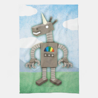 ユニコーンのロボット キッチンタオル