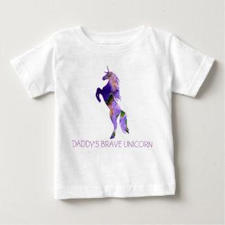 ユニコーンの勇敢なベビーの罰金のジャージーT-ShirtBabyのTシャツ ベビーTシャツ