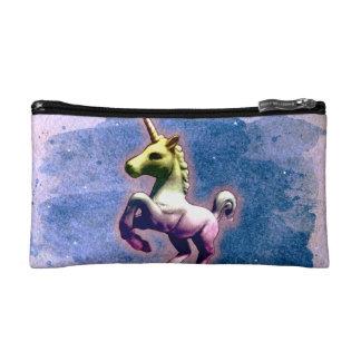 ユニコーンの化粧品のバッグのクラッチ(燃やされた青) コスメティックバッグ