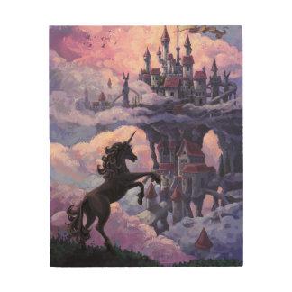 ユニコーンの城 ウッドウォールアート