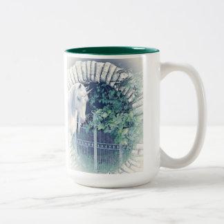 ユニコーンの庭のマグ ツートーンマグカップ