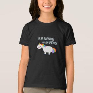 ユニコーンの服装の罰金のジャージーの素晴らしいTシャツ Tシャツ