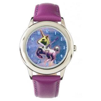 ユニコーンの腕時計の|燃やされた青 腕時計