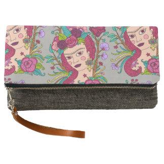 ユニコーンの芸術のプリントの財布 クラッチバッグ