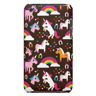ユニコーンの虹は背景の馬をからかいます Case-Mate iPod TOUCH ケース