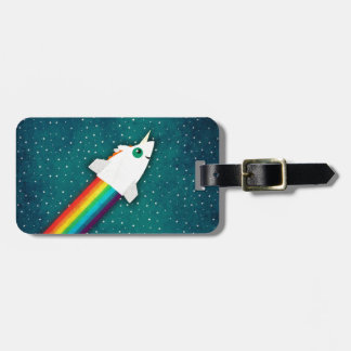 ユニコーンの虹ロケット ラゲッジタグ