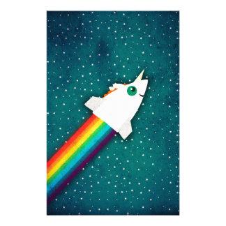 ユニコーンの虹ロケット 便箋