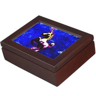 ユニコーンの記念品箱(パンクのカップケーキ) ジュエリーボックス