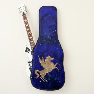 ユニコーンの銀河系は青い夜空のギターの箱を主演します ギターケース