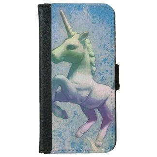 ユニコーンの電話ウォレットケース(青い北極) iPhone 6/6S ウォレットケース