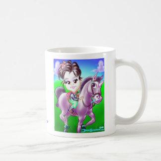 ユニコーンの風刺漫画のマグDC コーヒーマグカップ