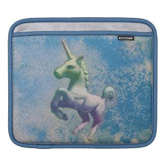 ユニコーンのiPadの袖(青い北極) iPadスリーブ