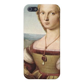ユニコーンのiPhoneの例を持つRaphaelの女性 iPhone 5 ケース