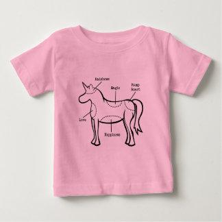 ユニコーンは幼児Tシャツを分けます ベビーTシャツ