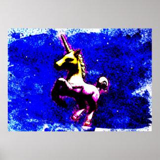 ユニコーンポスター芸術のプリント28x20 (パンクのカップケーキ) ポスター