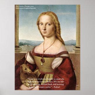 ユニコーン及びRaphaelの引用文PosteのRaphaelの女性 ポスター