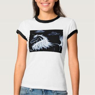 ユニコーン、ファンタジー、ウマ科のな馬 Tシャツ