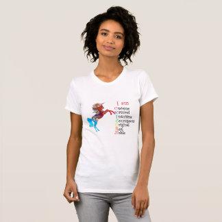 ユニコーン: 泡-私はユニークなTシャツです Tシャツ