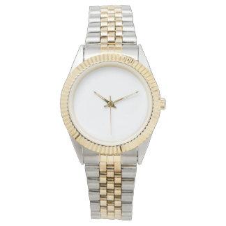 ユニセックスなツートーンブレスレットの腕時計 腕時計