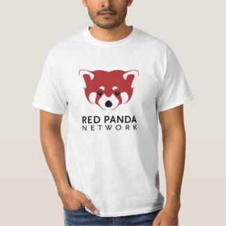 ユニセックスなレッサーパンダのロゴのティー Tシャツ