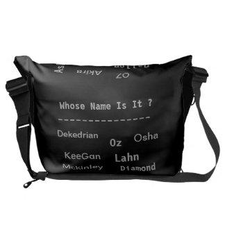 ユニセックスな名前の人力車のバッグ、 メッセンジャーバッグ