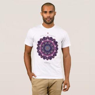 ユニセックスな幸福の曼荼羅 Tシャツ