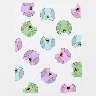 ユニセックスな数々のな色のフクロウ ベビー ブランケット
