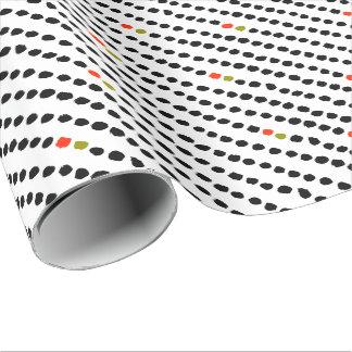 ユニセックスな白黒の赤い及び緑の水玉模様のギフト用包装紙 ラッピングペーパー