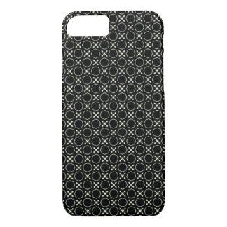 ユニセックスな白黒X及びOパターンiPhone 7の箱 iPhone 8/7ケース
