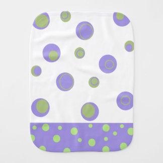 ユニセックスな紫色の緑の水玉模様 バープクロス