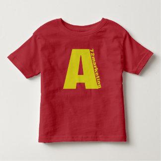 """ユニセックスな赤のイニシャル""""A""""の幼児のワイシャツのシマリス トドラーTシャツ"""
