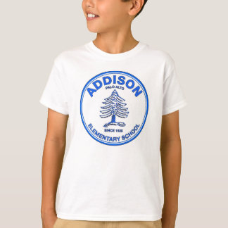 ユニセックスな青年ティー、青いロゴ Tシャツ