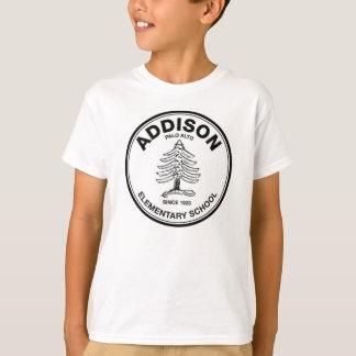ユニセックスな青年ティー、黒いロゴ Tシャツ