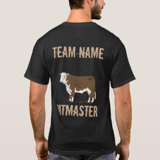 ユニセックスなBullカスタムなBBQのチームPitmaster Tシャツ