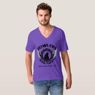 ユニセックスなVee首 Tシャツ