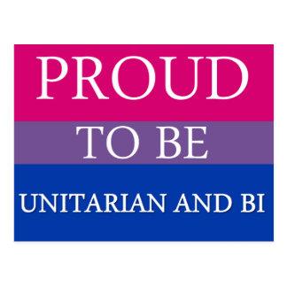 ユニテリアンおよびBiがあること誇りを持った ポストカード
