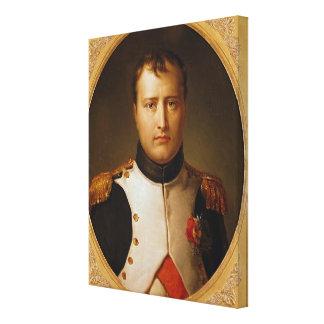 ユニフォームのナポレオンのポートレート キャンバスプリント