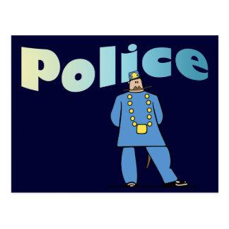 ユニフォームの警官 ポストカード