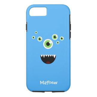 ユニークでおもしろいで熱狂するでかわいく青いモンスター iPhone 8/7ケース