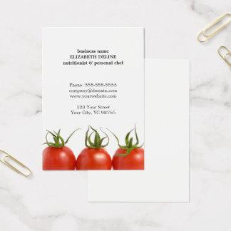 ユニークできれいなトマトの健康の栄養士のシェフ 名刺