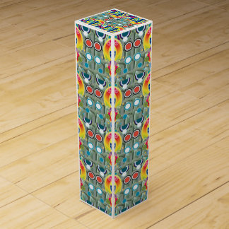 ユニークでカラフルな宝石のグラフィック米国のワイン用化粧箱 ワイン ギフトボックス