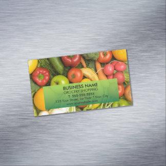 ユニークでカラフルな野菜の食料雑貨 マグネット名刺 (25枚パック)