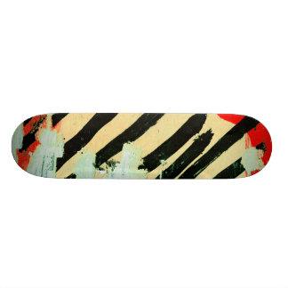 ユニークでクールで擦り切れたな壁紙のペンキ 21.6CM オールドスクールスケートボードデッキ