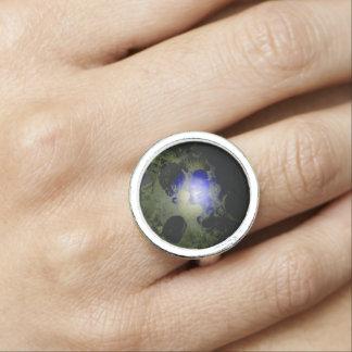 ユニークでスタイリッシュなパターン銀のリング 指輪
