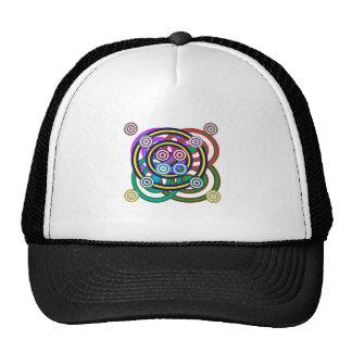 ユニークで幸せでにこやかなライングラフィックアート トラッカー帽子