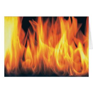 ユニークで猛烈な炎のカスタムの写真 カード
