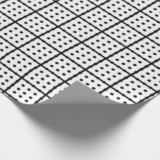 ユニークで白い包装紙 ラッピングペーパー