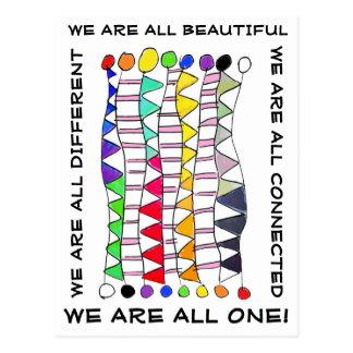 ユニークで美しい及び1つの多様性のお祝い ポストカード